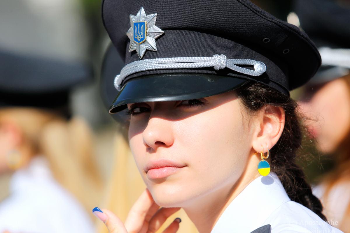 Украинские полицейские отмечали свой профессиональный праздник на Софийской площади