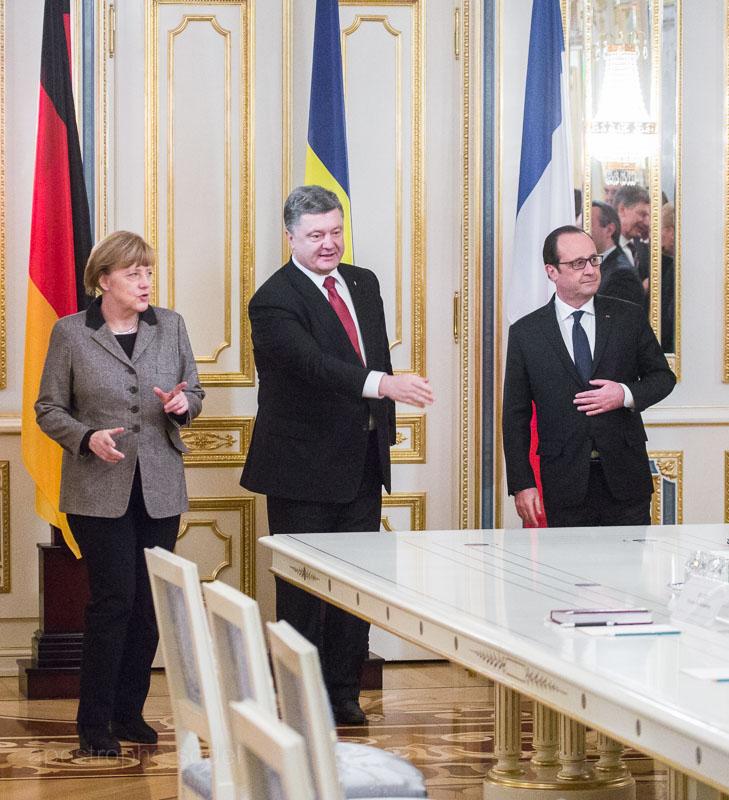 Лидеры Евросоюза привезли в Киев свой вариант мирного урегулирования конфликта на Донбассе