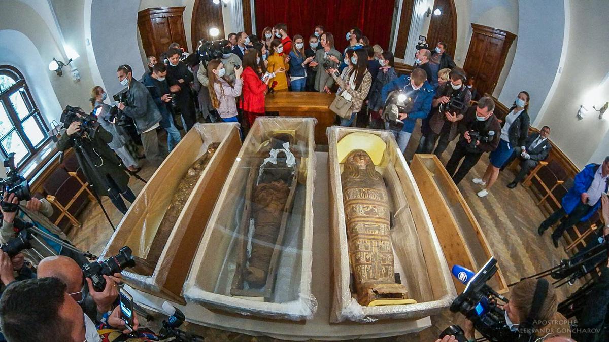 ВКиево-Печерской лавре несколько десятков лет хранились мумии изЕгипта