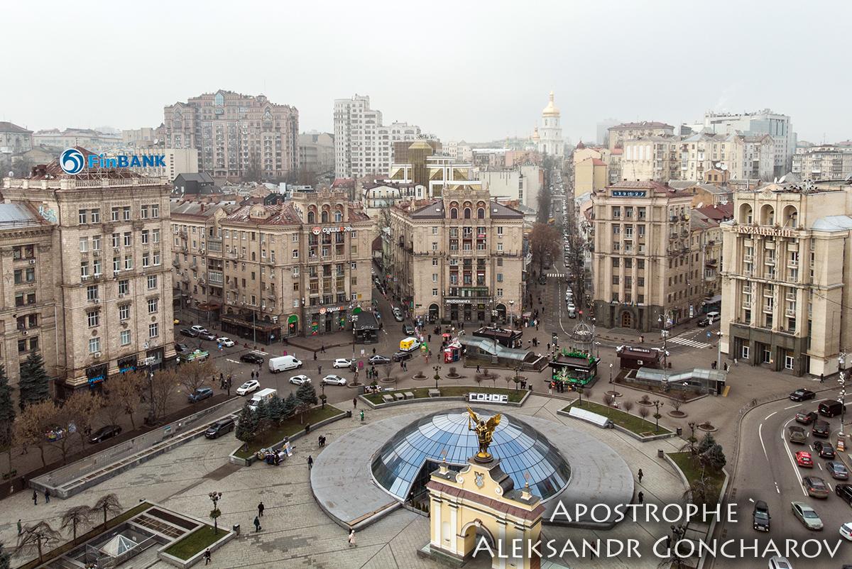 Надбудова на Майдані фото з дрона