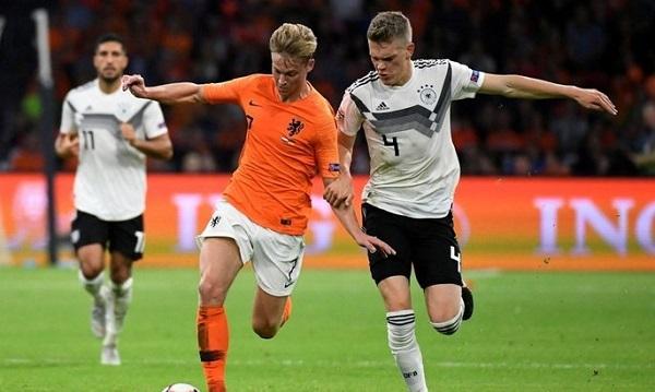 Немцы и нидерландцы играли в матче квалификации Евро-2020