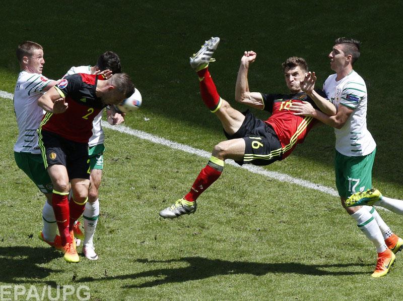 """Сборная Бельгии  разгромила Ирландию в матче второго тура """"группы смерти"""""""