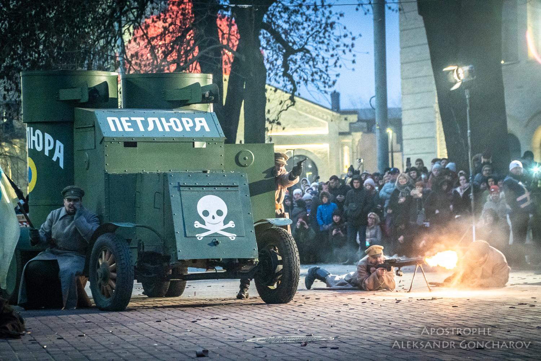 Восстание на заводе арсенал Киев 1918 бронемашина