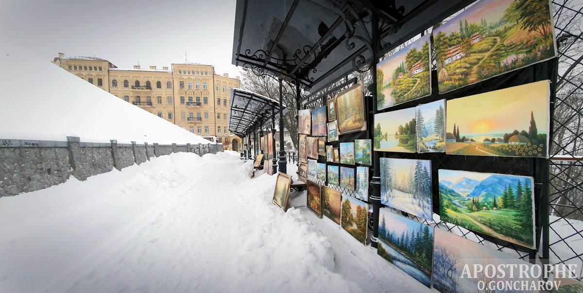 Киев снегопад уборка снег