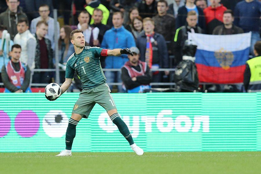 Сборная России провела второй матч на домашнем чемпионате мира