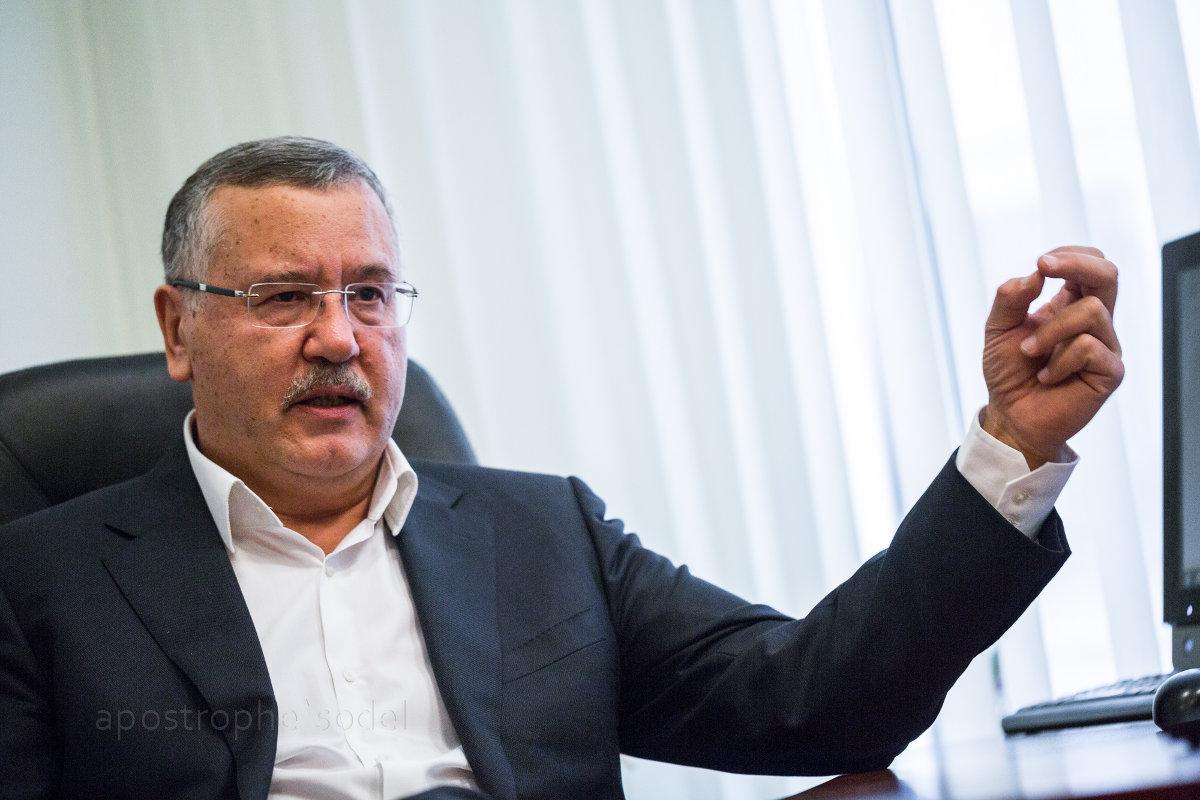 Лидер партии «Гражданская позиция» Анатолий Гриценко о плане действий в Верховной раде нового созыва