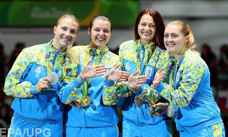 Женская сборная по фехтованию на саблях принесла Украине четвертую медаль Олимпиады-2016