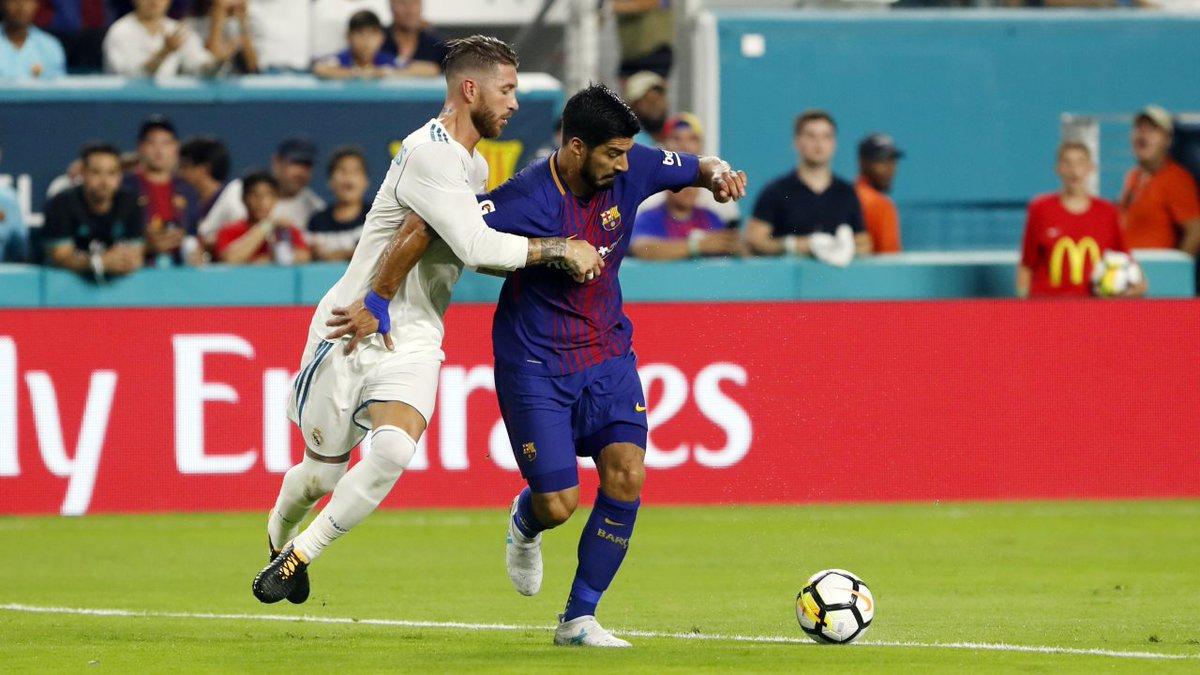 Гранды испанского футбола провели первый поединок двухматчевого противостояния за трофей