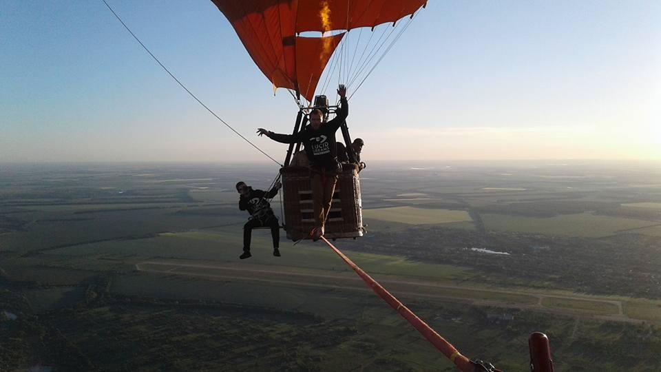 Найвищий хайлайн між повітряними кулями— новий рекорд України