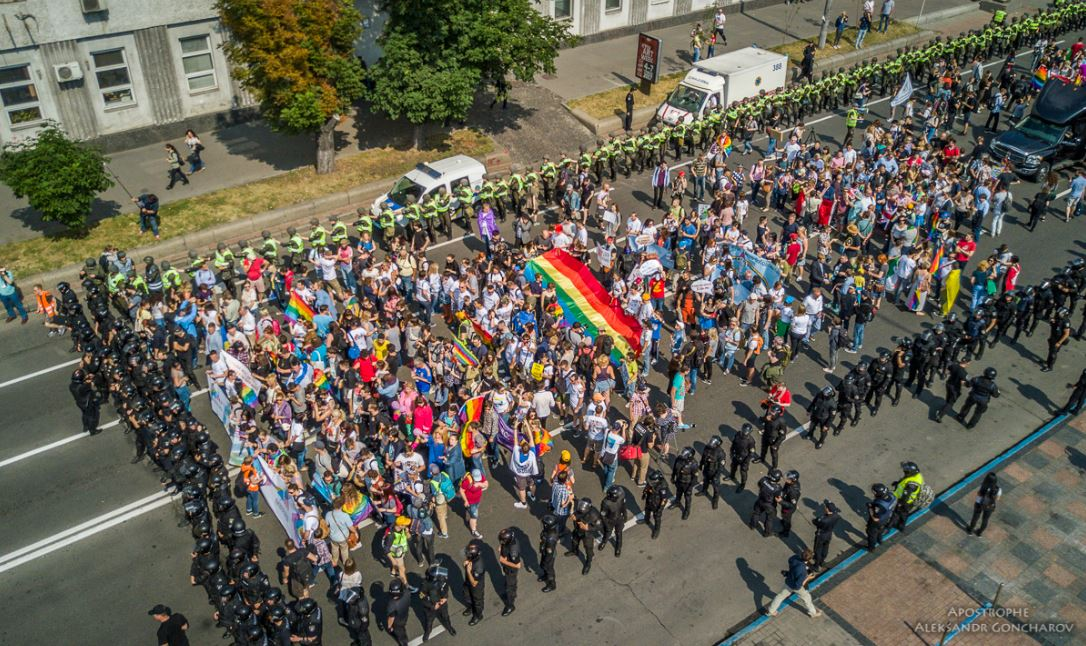 Националисты блокировали маршрут марша ЛГБТ и устроили драку