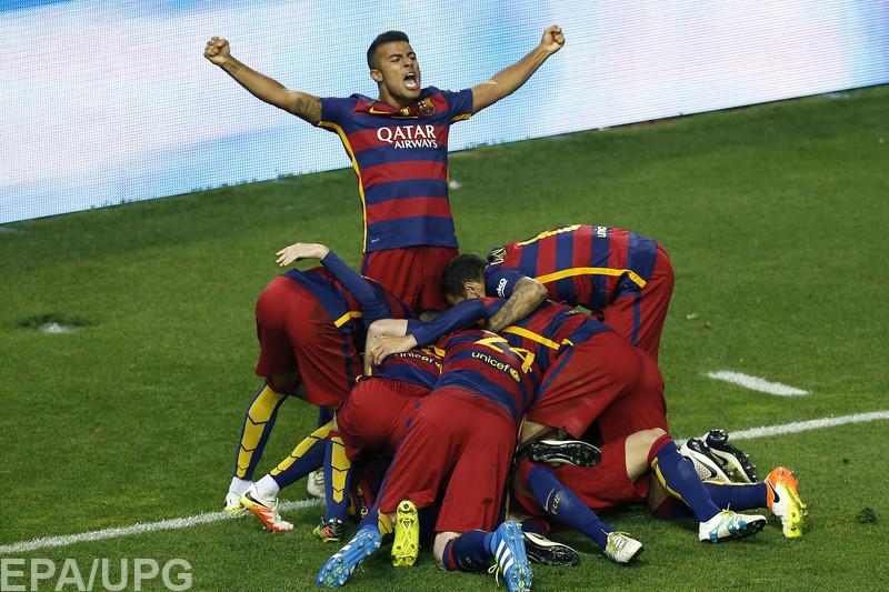 Каталонцы в дополнительное время победили команду Евгения Коноплянки в решающем матче Кубка короля