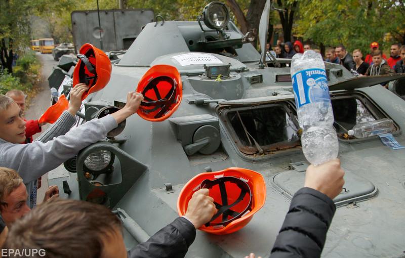 Жители Донбасса выйдут на улицы только в тот момент, когда будут похороны
