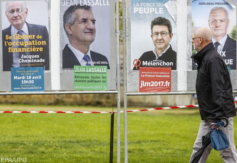 Макрону как главному претенденту на победу противостоят трое пророссийских политиков