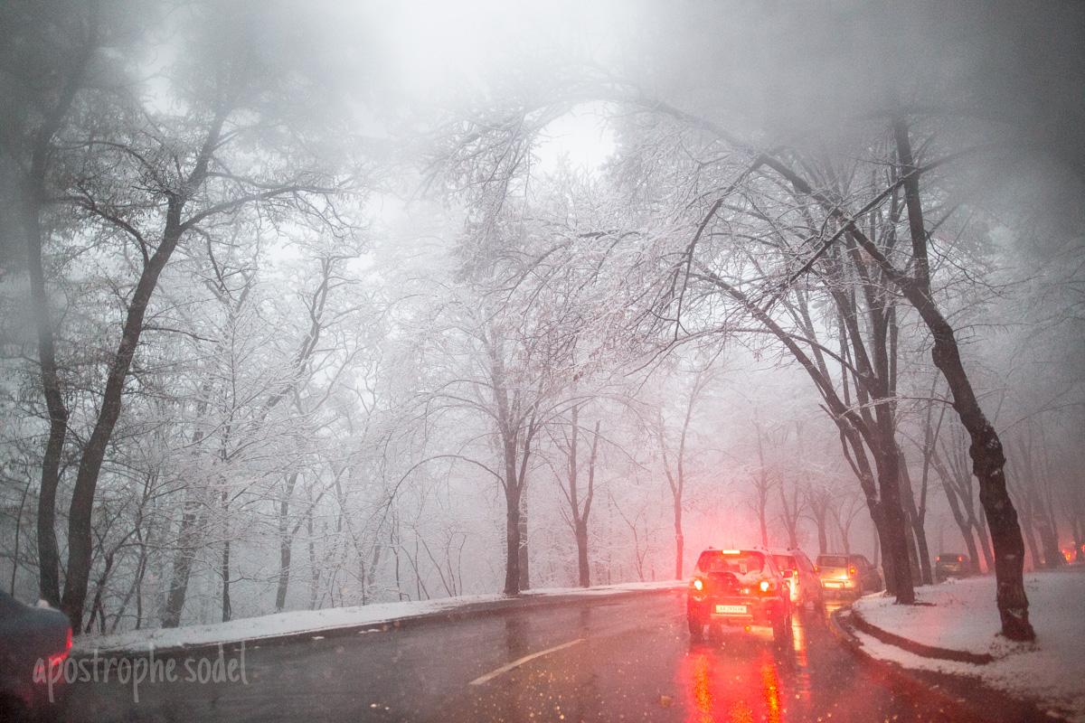 """""""Апостроф"""" увидел, как столицу занесло снегом в первый день зимы"""