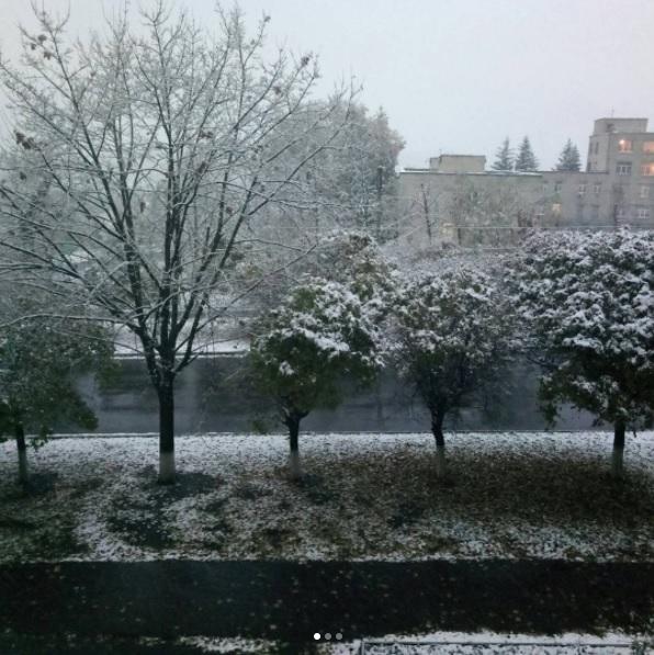 ВХарькове выпал 1-ый снег