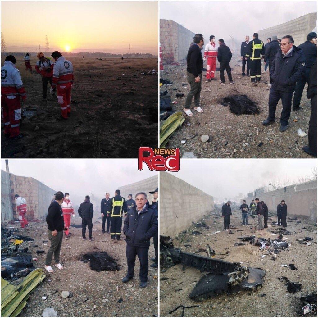 ВИране разбился самолет «Украинских авиалиний». Наборту были 167 человек