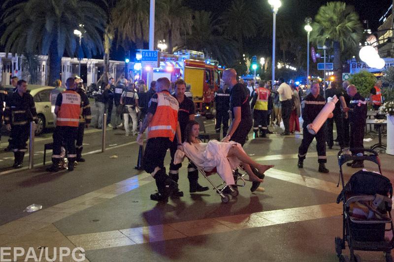 84 человека стали жертвами теракта вофранцузской Ницце