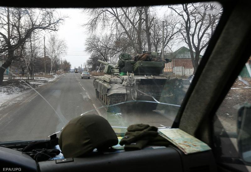 Українські військовослужбовці недалеко від Дебальцевого, 19 лютого 2015 року