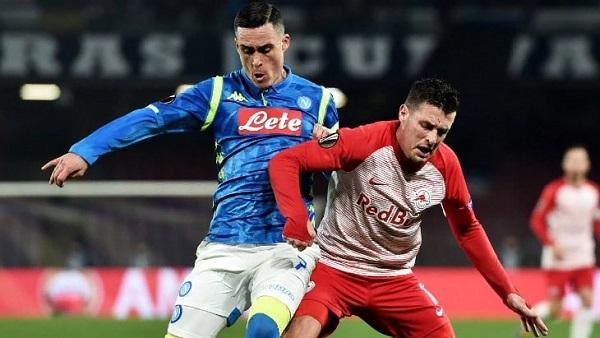 Итальянский и австрийский клубы играли в матче Лиги чемпионов