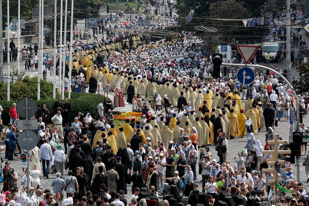 Как проходили 27 июля мероприятия УПЦ МП, связанные с крестным ходом на Киев