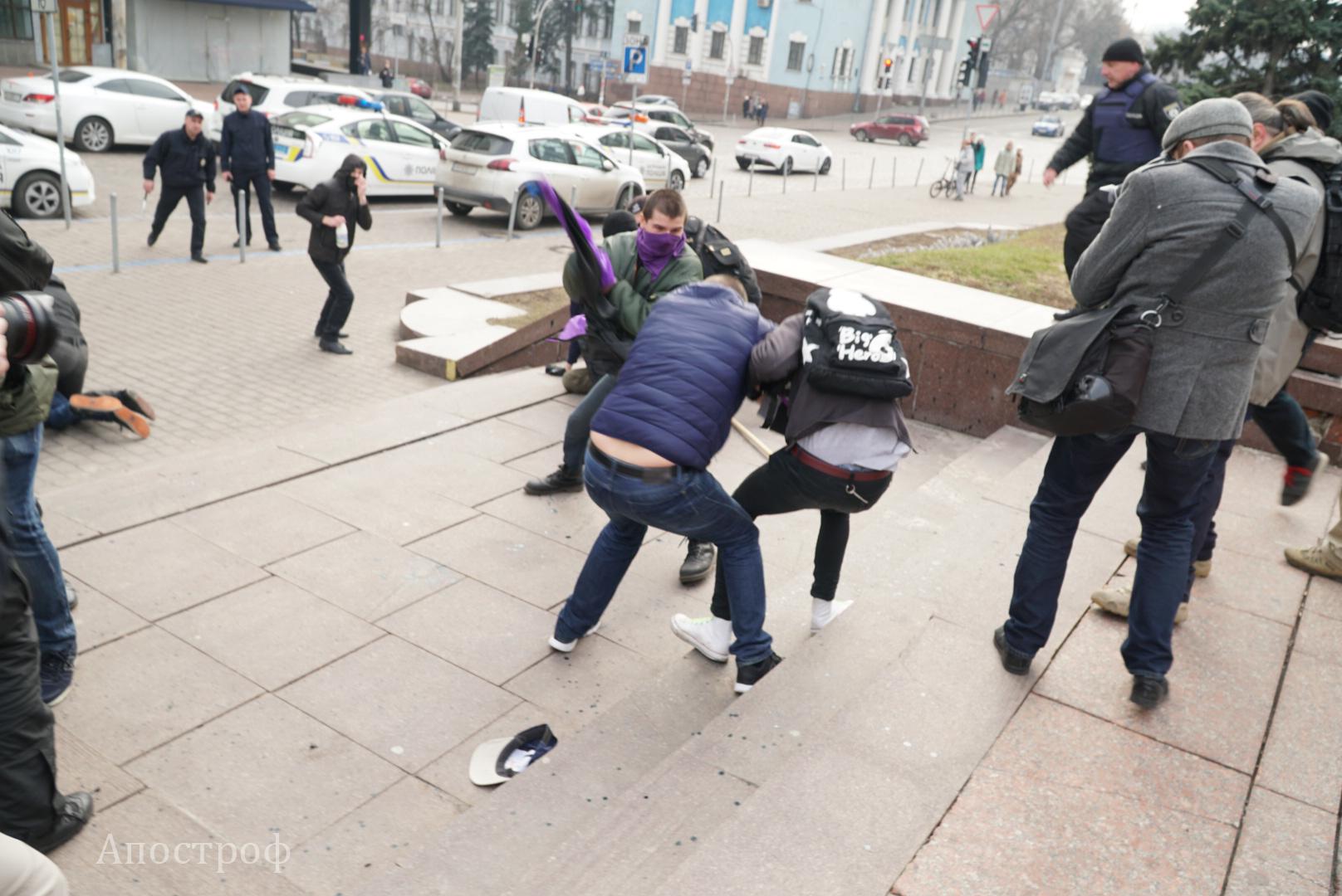 Феминистки прошлись маршем поцентру украинской столицы