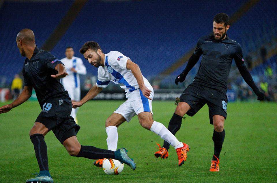 26 ноября в Риме днепряне провели пятый поединок в групповом турнире Лиги Европы