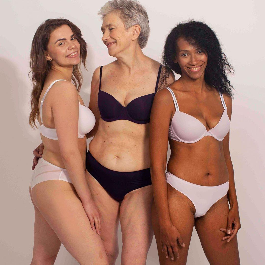 Пенсионерка снялась в рекламе нижнего белья - фото - Апостроф