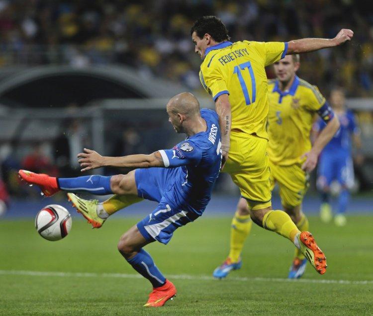 Украинцы сыграли восьмой матч в квалификации Евро-2016