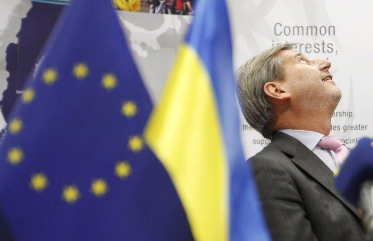 Комиссар ЕС по политике соседства пообещал Украине поддержку Брюсселя только в обмен на успешные реформы
