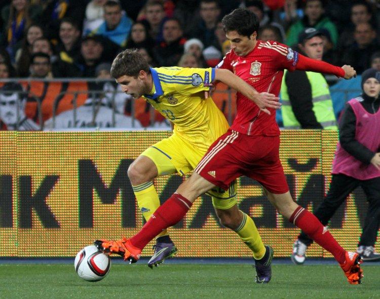 Сборная Украины потерпела третье поражение в отборочном цикле