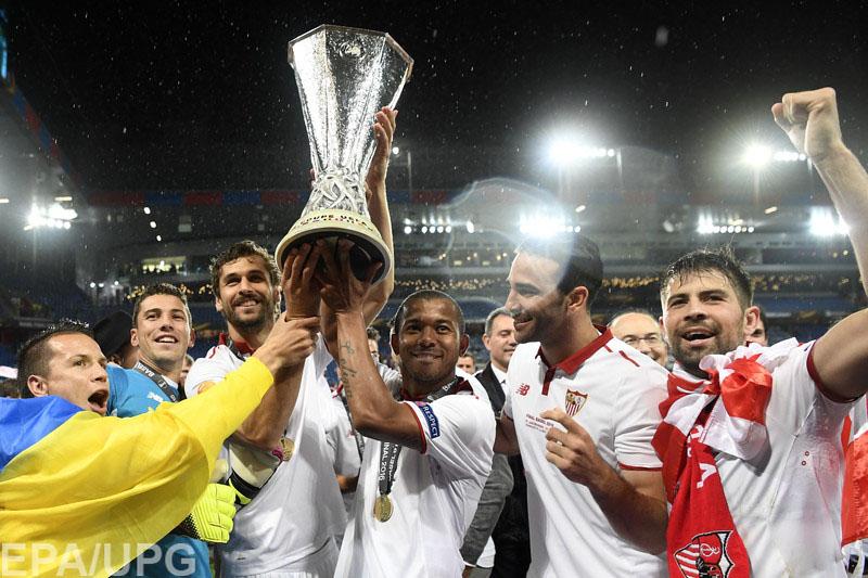 """18 мая в Базеле """"Севилья"""" в третий раз подряд выиграла Лигу Европы"""