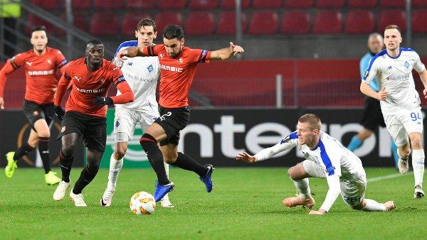 Динамовцы провели второй матч против французского клуба в Лиге Европы