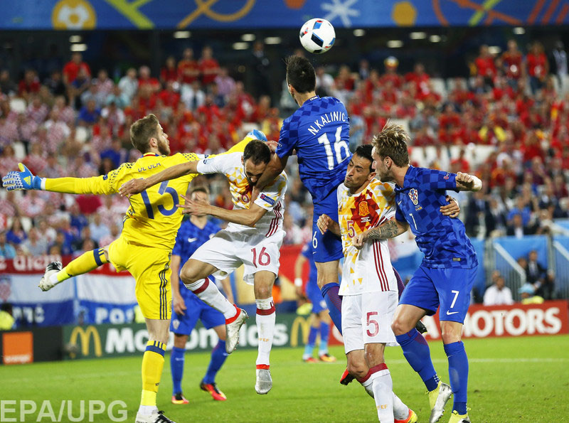 В заключительном туре группового раунда в квартете D Хорватия победила Испанию