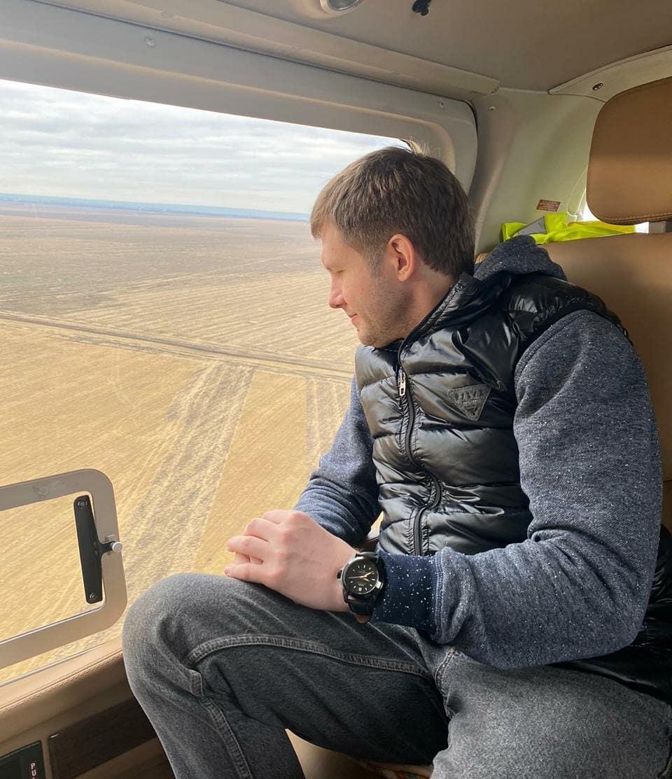 Российский пропагандист снова засветился в Украине и полетал на вертол