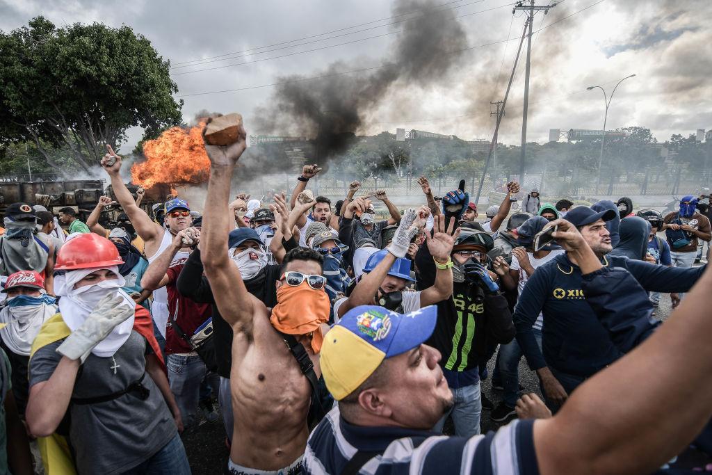 Массовые протесты против правительства Мадуро
