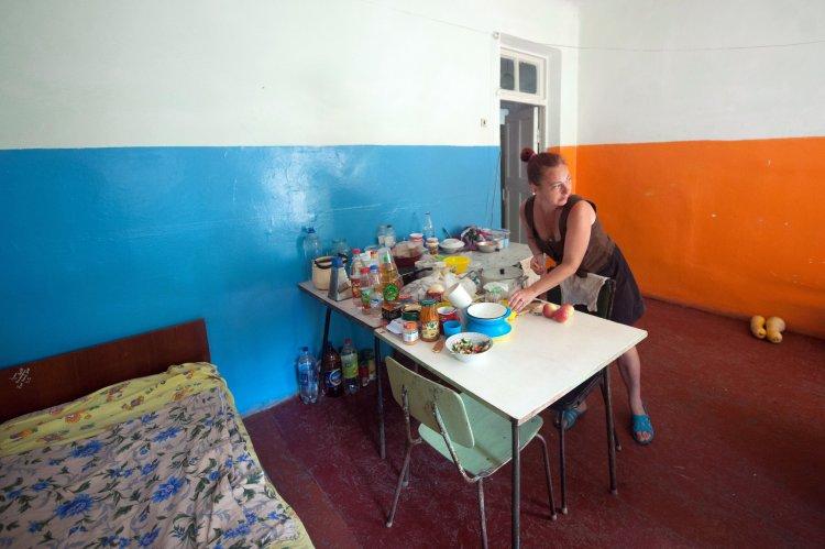 Вместе с волонтерами A' навестил переселенцев из Дебальцево