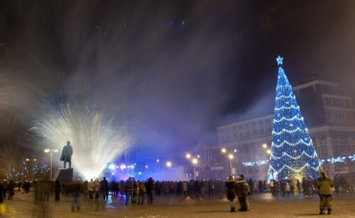 Жители оккупированного города праздновали Новый год без особой радости