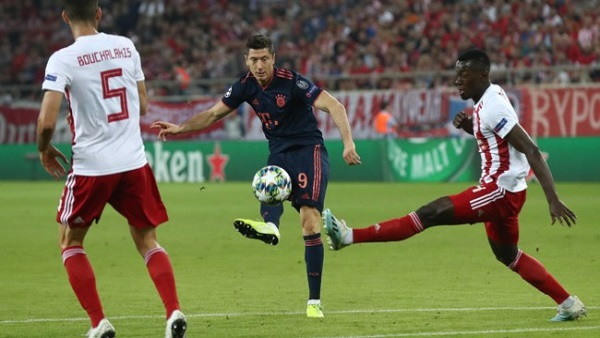 Чемпионы Германии и Греции играли в матче Лиги чемпионов
