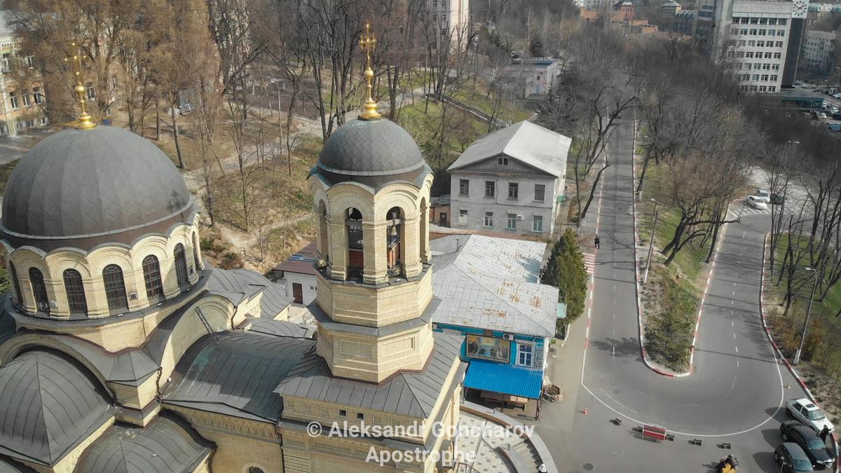 Александровская больница храм Киев коронавирус карантин Апостроф