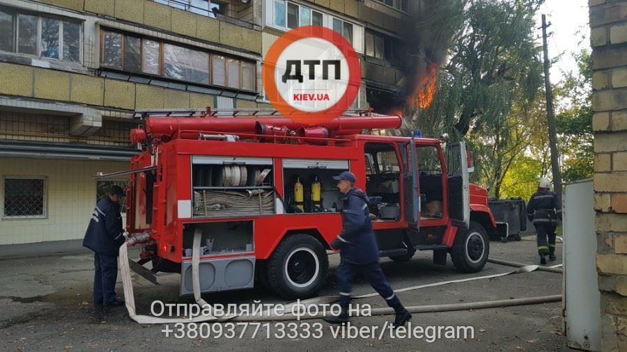 Около здания Министерства транспорта произошел пожар 4