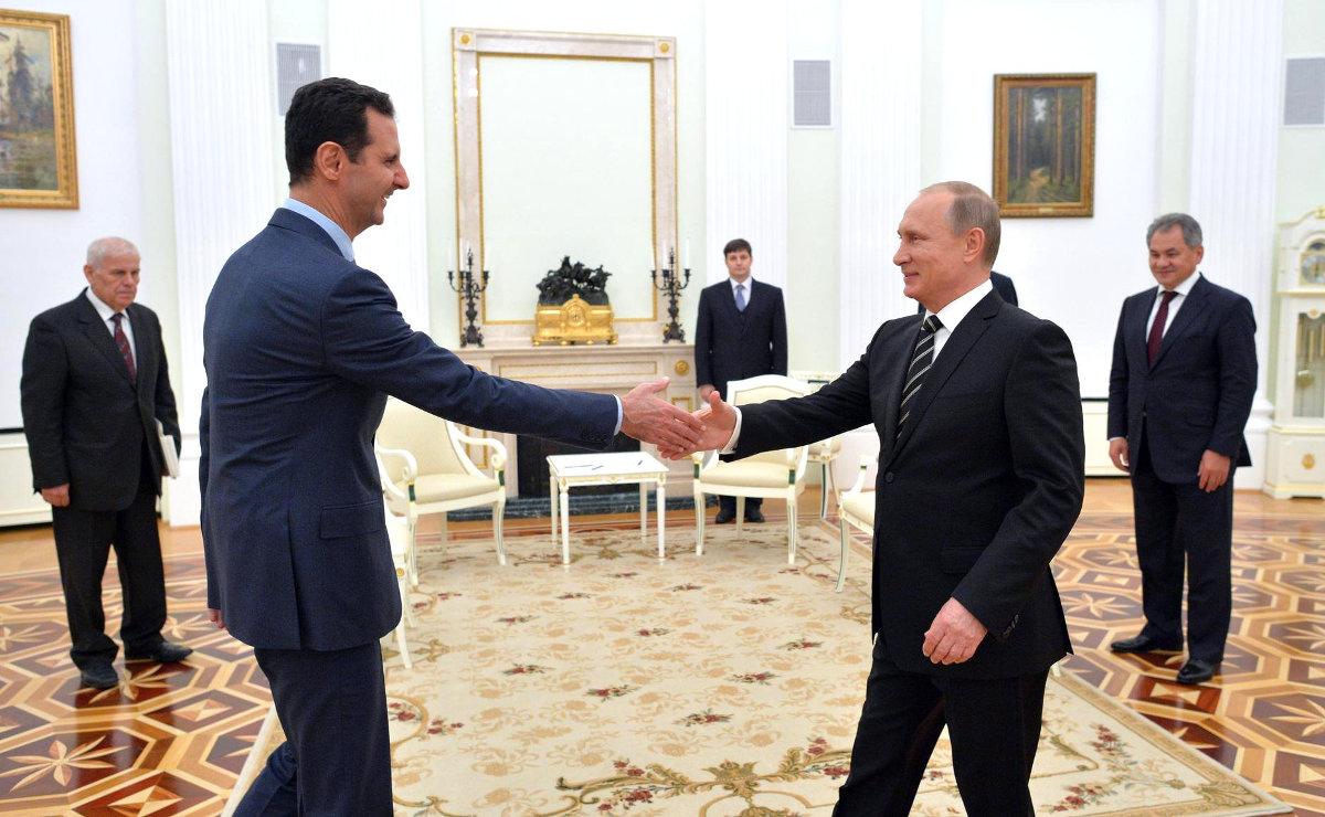Как отреагировали пользователи соцсетей на встречу глав России и Сирии