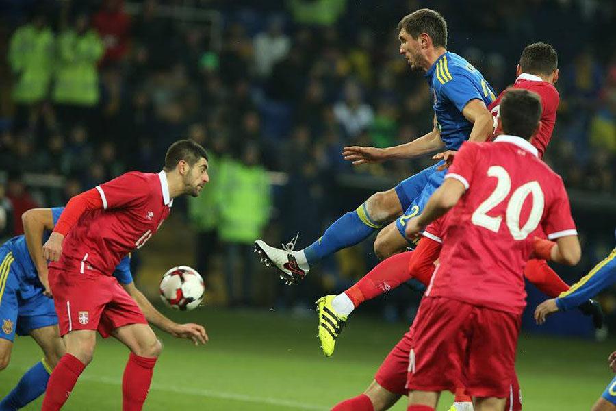 Сборная Украины уверенно обыграла команду Сербии