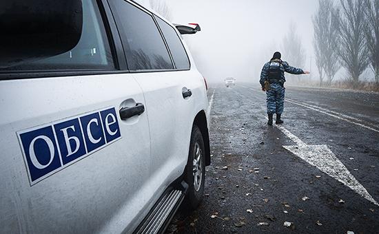 Появилось первое видео с места подрыва авто миссии ОБСЕ на Донбассе