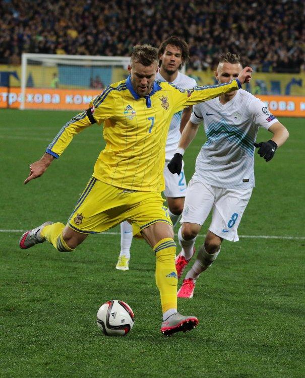 Сборная Украины обыграла Словению во Львове 2:0