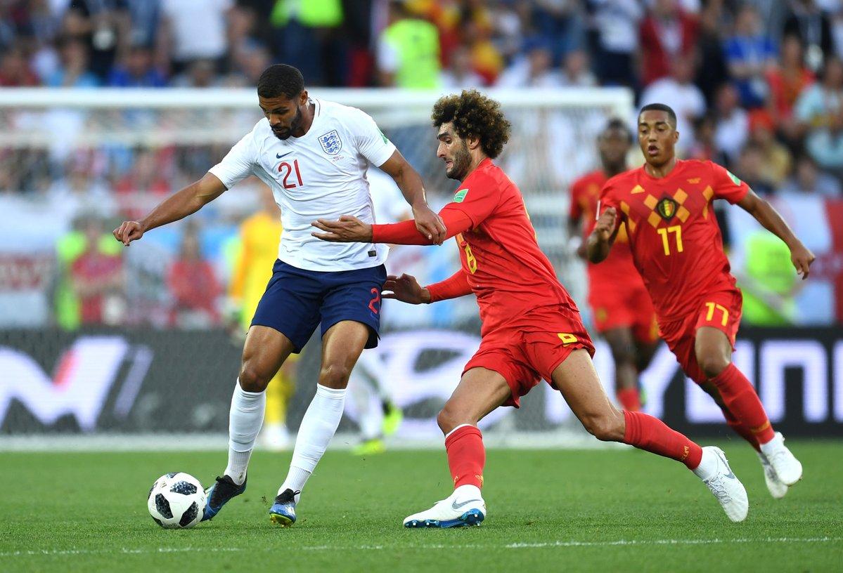 Англия и Бельгия играли в заключительном матче группового этапа ЧМ-2018
