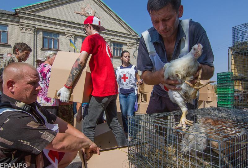 Предоставление гуманитарной помощи на Донбассе