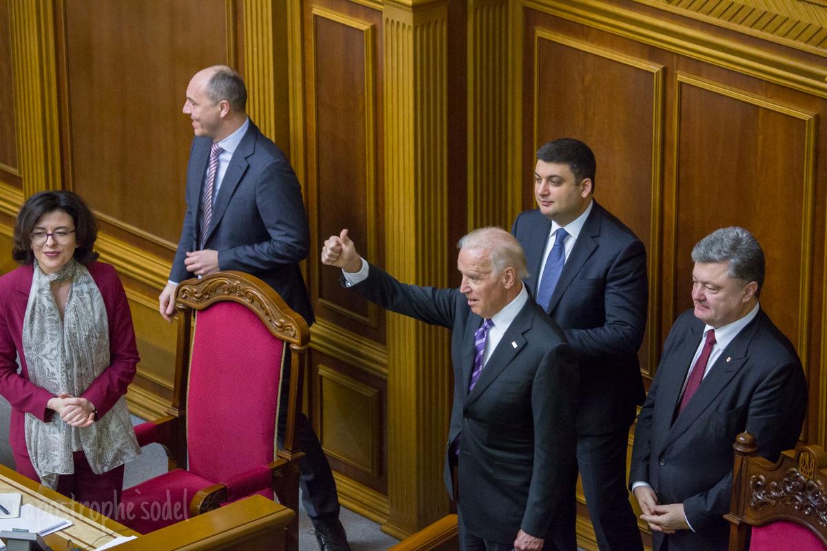 Как Байден выступал в украинском парламенте