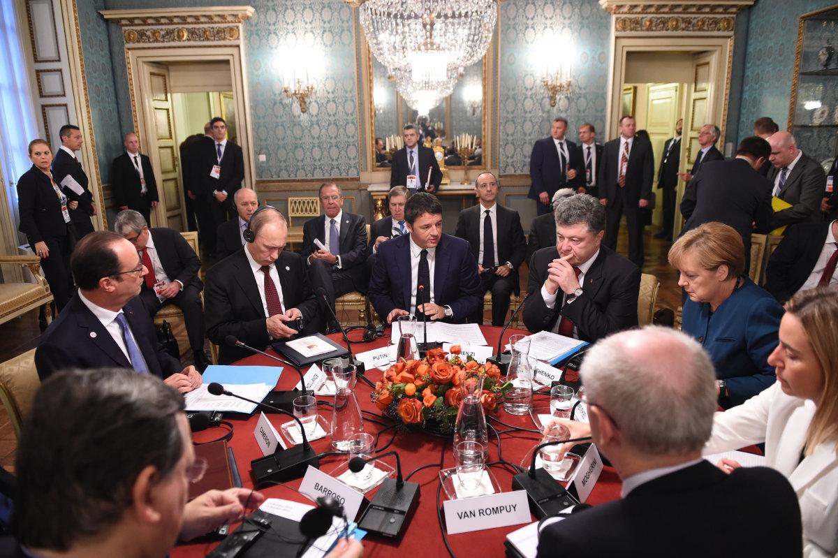 Лидеры ЕС и Петр Порошенко убедили президента РФ сотрудничать в деэскалации украинского конфликта