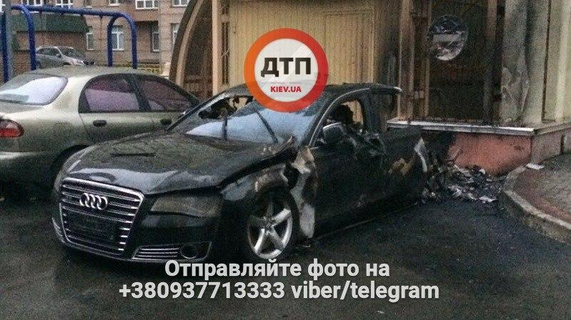 УКиєві несподівано вибухнув автомобіль екс-міністра: з'явилися фото з місця вибуху