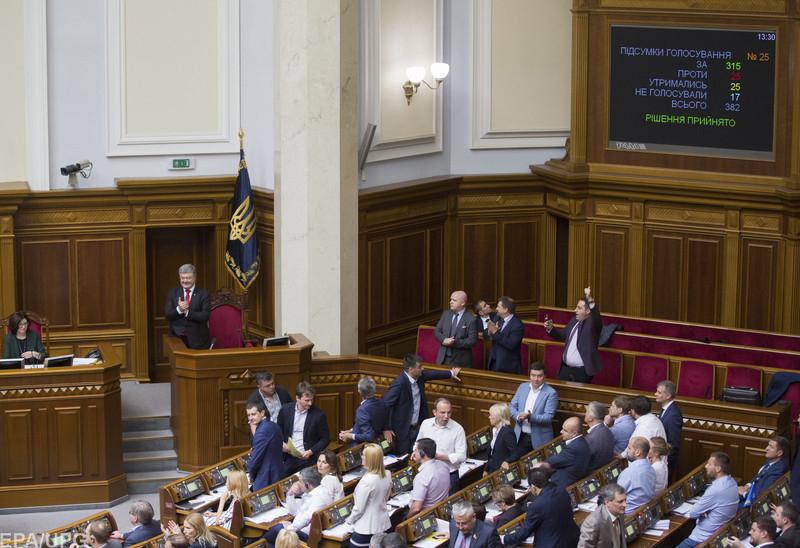 Нардепы отдали 315 голосов за законопроект